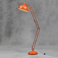 Large Retro Orange Floor Lamp Vintage Angle-poise Style ...