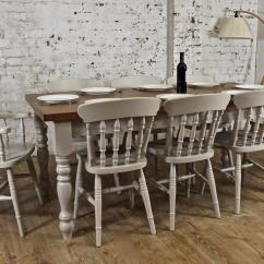 Oak Farmhouse Chairs Egg Chair Amazon 6ft Solid Dining Table Set Painted