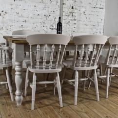 Pine Kitchen Chairs Ireland Leather Dining Johannesburg Solid 6ft Set Table Rustic Bespoke Farmhouse