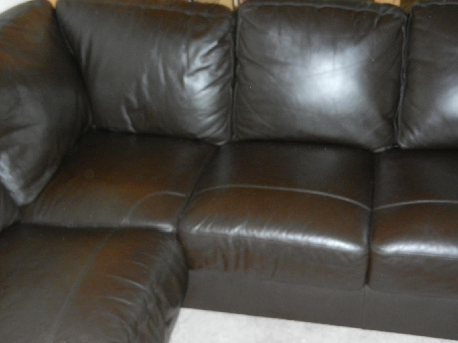 corner sofa leather ebay raymour and flanigan reviews brown soft 5 seater