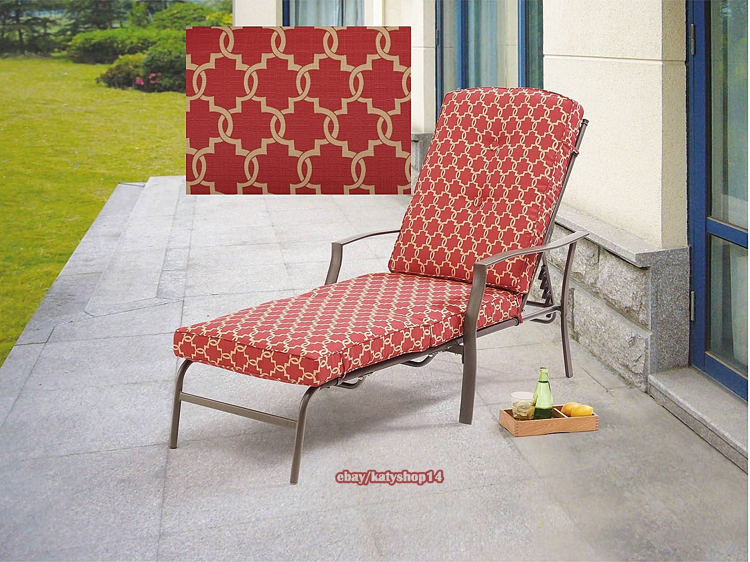 red chaise lounge chair outdoor rocking chairs walmart patio relax adjustable back