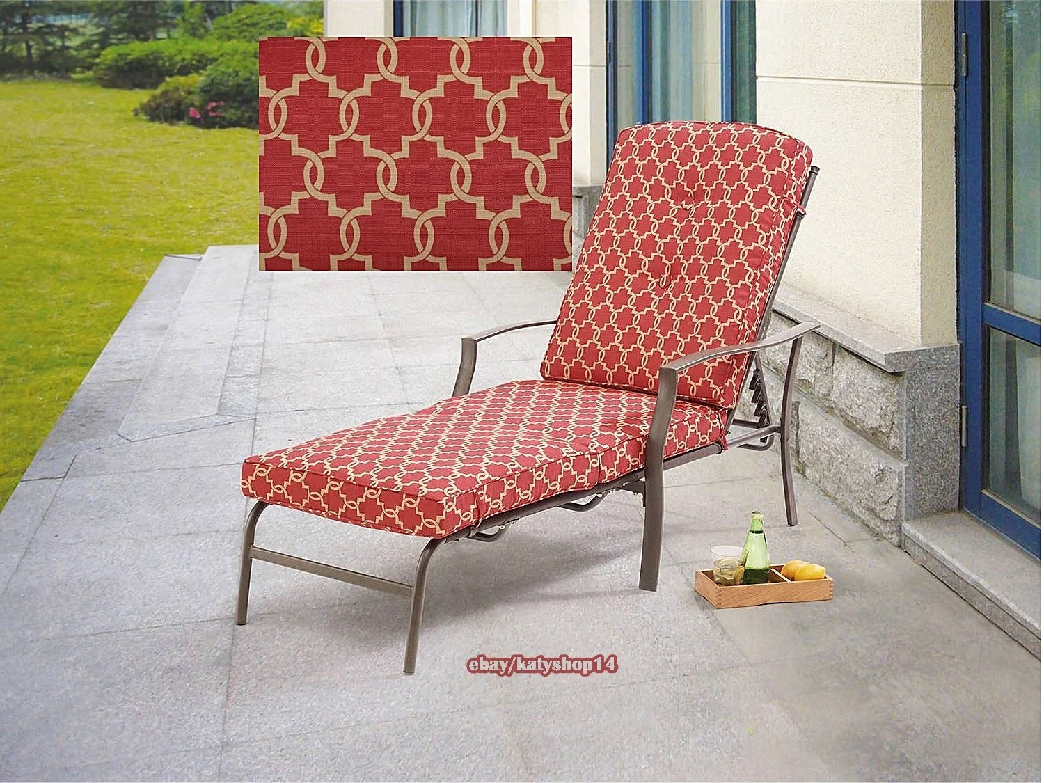 Patio Chaise Lounge Outdoor Relax Chair Adjustable