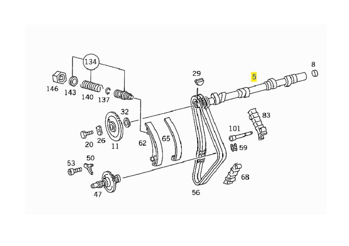 A1020501401 MERCEDES M102 ENGINE CAMSHAFT REPAIR SIZE I
