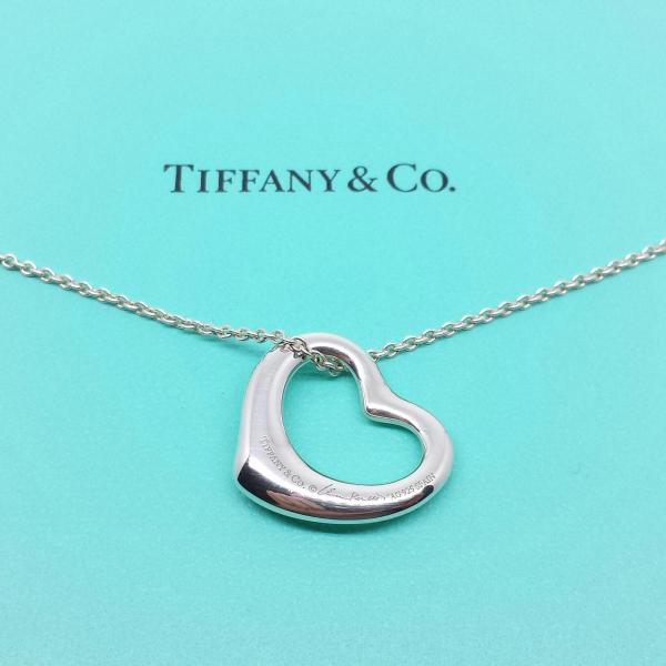 Tiffany & Elsa Peretti Open Heart Pendant Necklace In