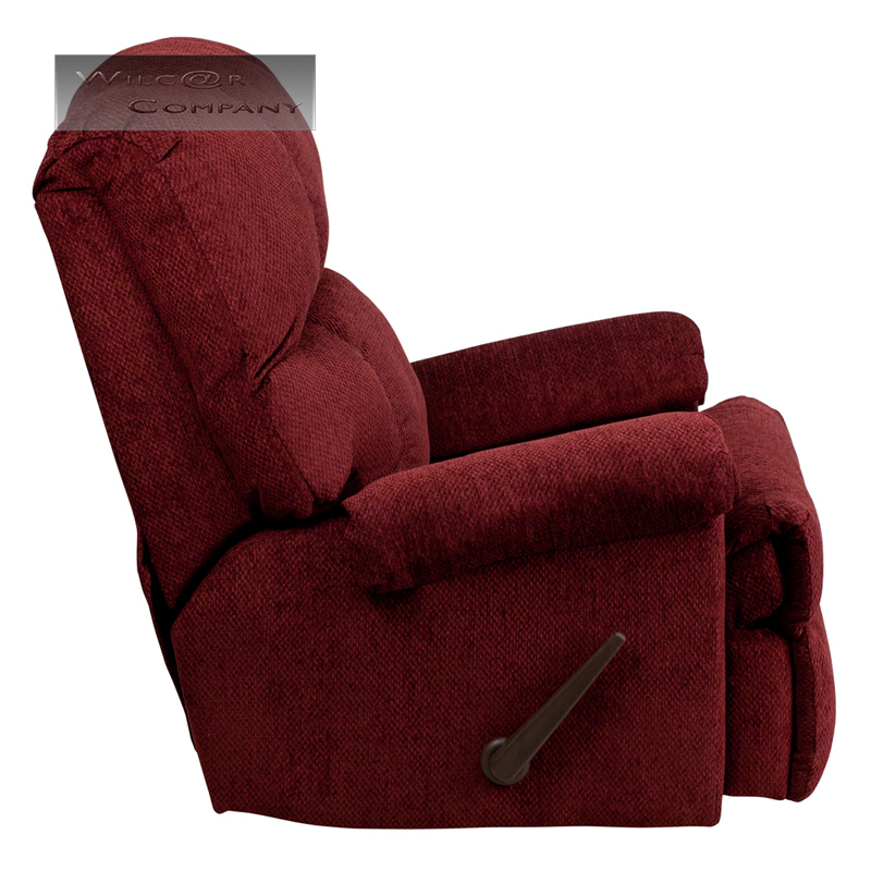 Red Burgundy Fabric Rocker Recliner Lazy Chair Furniture
