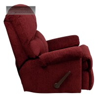 Red Burgundy Fabric Rocker Recliner Lazy Chair Furniture ...