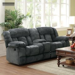 Double Recliner Chairs Victorian For Sale New Grey Rocker Glider Loveseat Lazy Sofa