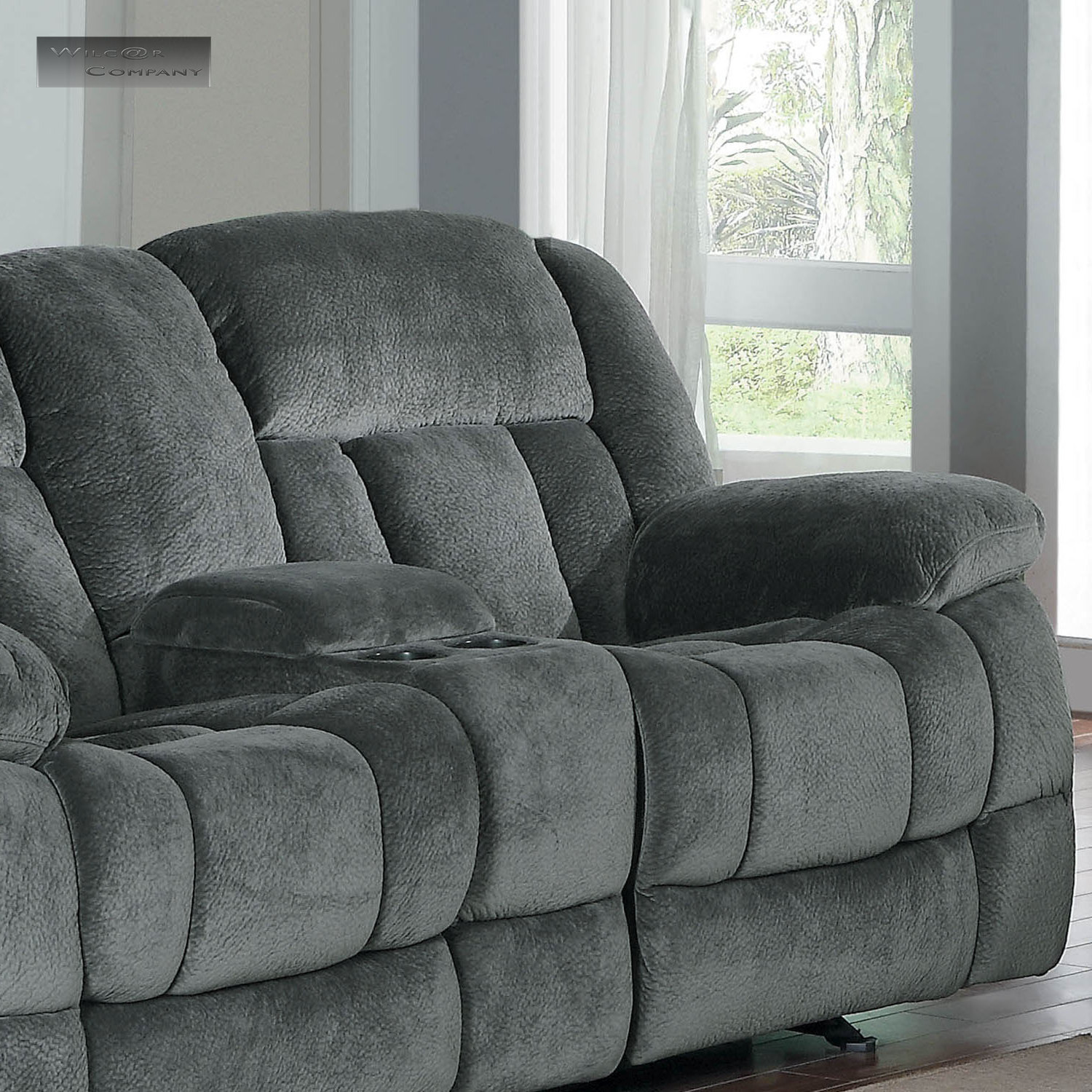 lazy boy glider rocking chair gabriel gundacker metal chairs vine new grey rocker double recliner loveseat sofa