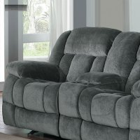 Rocker Recliner Sofa. New Grey Rocker Glider Double