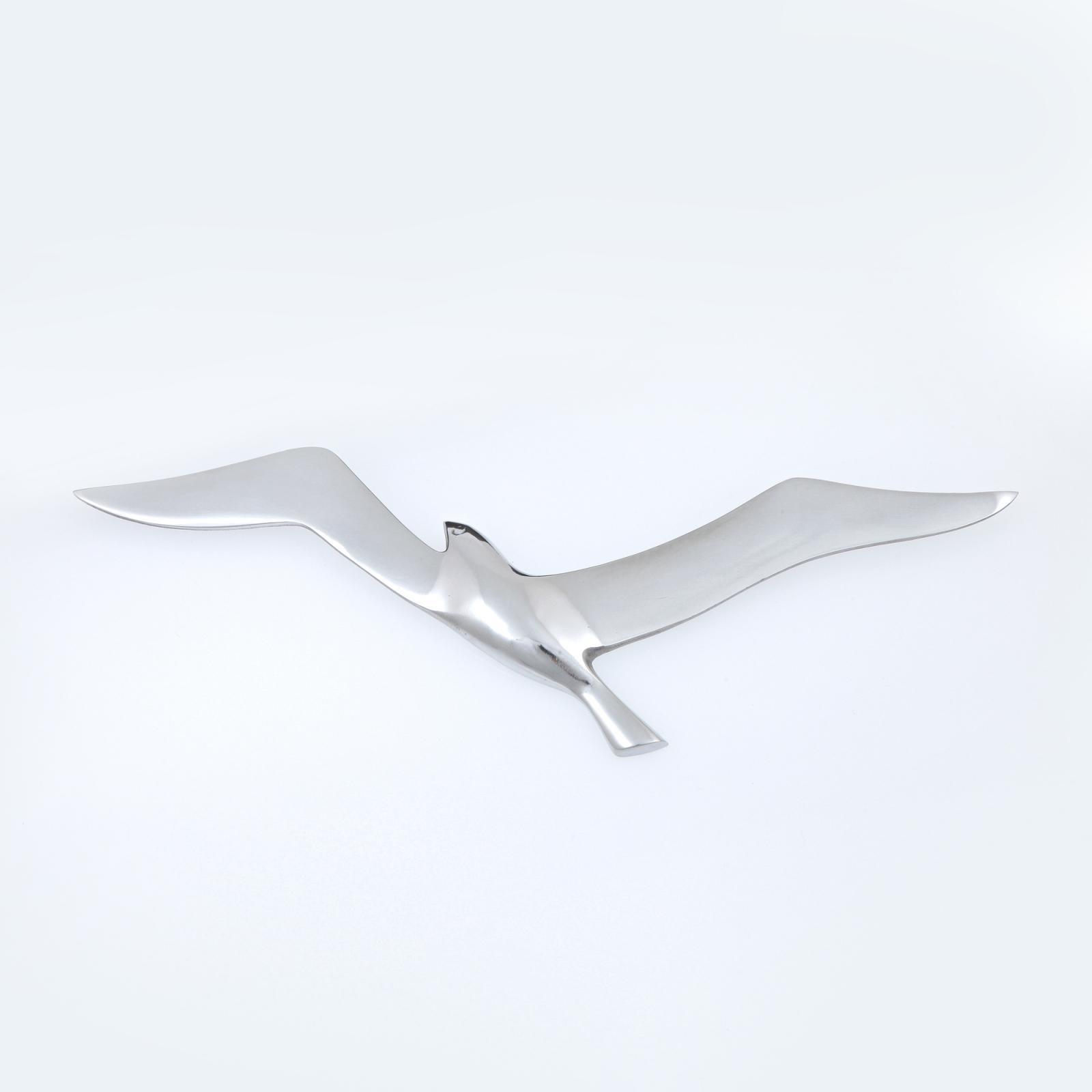 Metal Wall Art Decor Sculpture Handmade Seagull Bird Flying Silver EBay