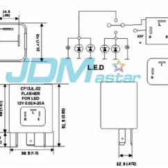 Flasher Relay Wiring Diagram Simple Electronic Projects With Circuit Jdm Astar 3 Pin Cf 13 Car Fix Led Light Turn