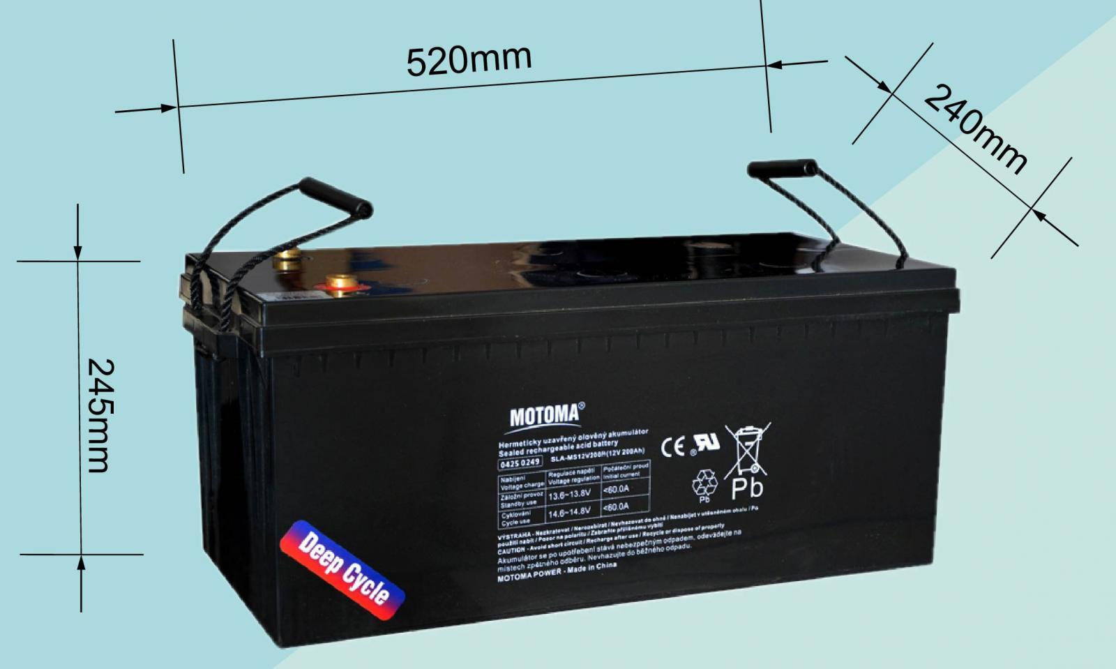 12v 200ah 205ah Gel Deep Cycle Battery Ups Marine Caravan Solar Camp 4wd