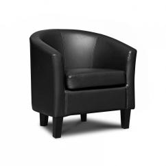 Leather Tub Chair Music Posture Denver Faux Grey Ebay