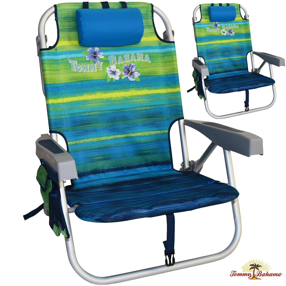 tommy bahama cooler chair banquet covers derry 2 backpack beach chairs with towel bar