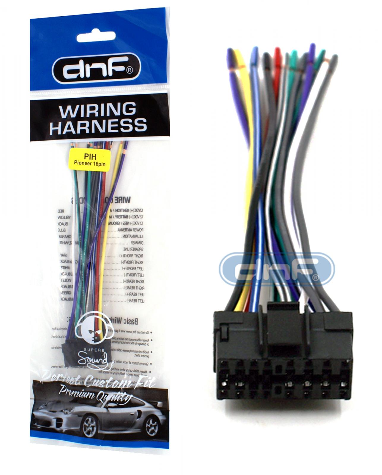 pioneer deh 1100 deh 1150 deh 2100 deh 2150 wiring harness ships free today ebay [ 1286 x 1600 Pixel ]