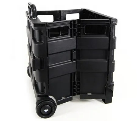 Portable Collapsible Craft Storage Crate and Bag Trolley