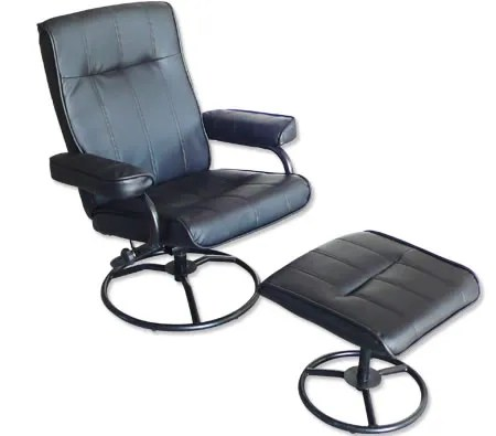 leather swivel recliner chair and stool bedroom used & foot - office recline | crazy sales