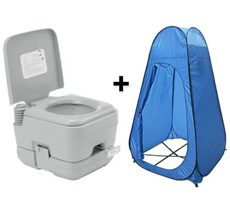 Portable Toilet 10L Camping Potty  Pop Up Tent Change