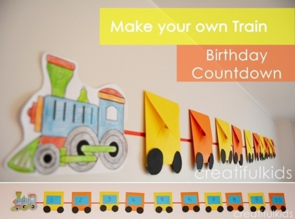 how to make a birthday party countdown train