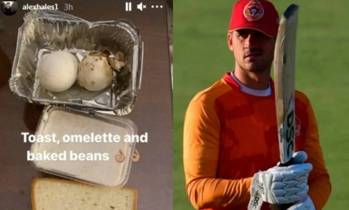Cricket Image Alex Hales Posting Picture Of Poor Quality Food Offered To Him In Psl 2021