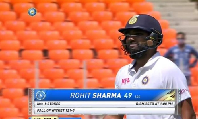 Cricket Image for Twitter Reaction On Rohit Sharma Dismissal