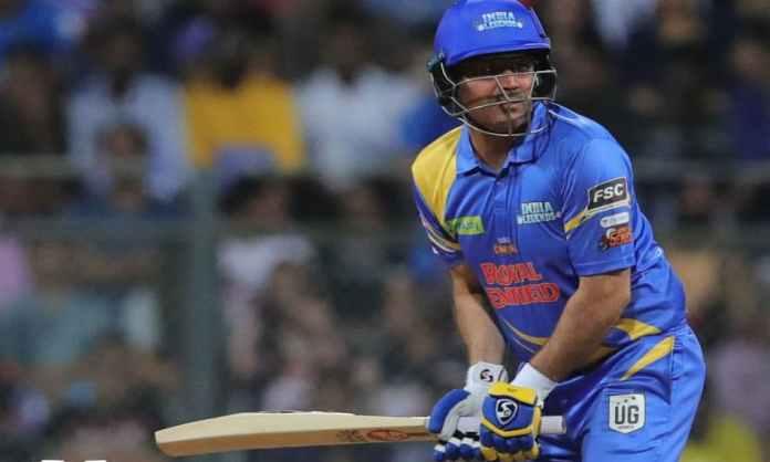 Cricket Image for Road Safety Series: सहवाग की तूफानी पारी से इंडिया लेजेंड्स को मिली बड़ी जीत, बांग