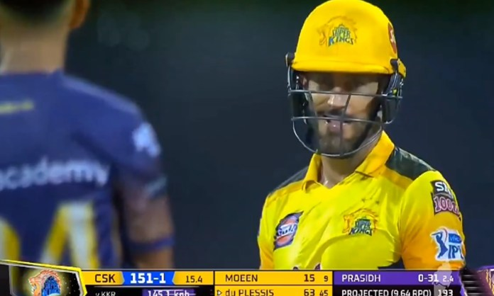 Cricket Image for Ipl 2021 Heated Moments Between Faf Du Plessis And Prasidh Krishna