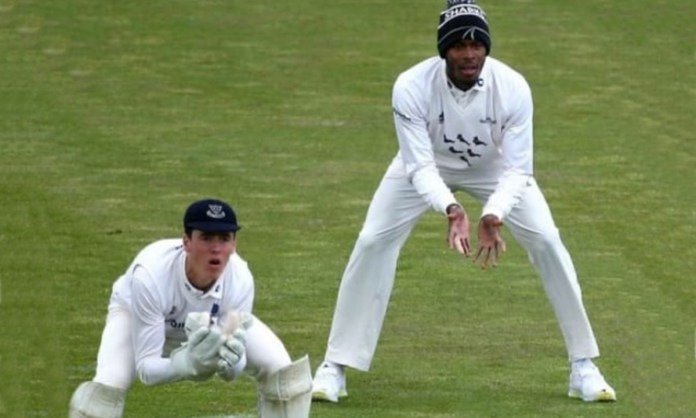 Cricket Image for England Pacer Jofra Archer Wearing A Wooly Hat At Slip