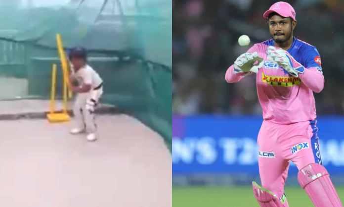 Cricket Image for VIDEO : 9 साल के के बच्चे को स्पॉन्सर करेगी राजस्थान रॉयल्स, स्टंप के साथ बैटिंग क