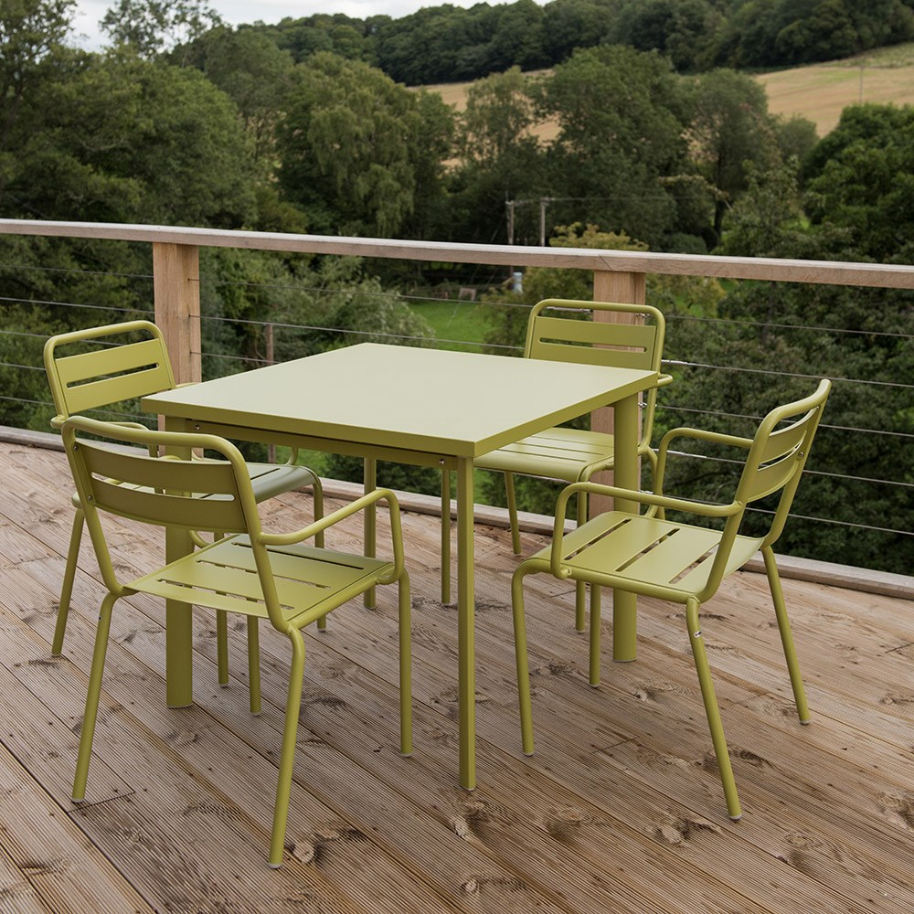4 Seat Florence Dining Set - Green Delivery Crocus
