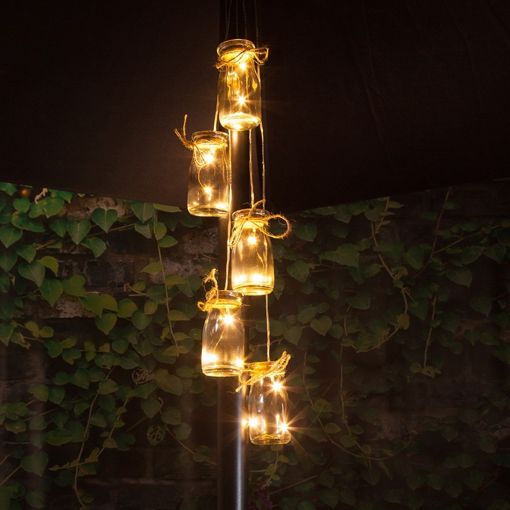 Buy 5 Bottles LED Parasol Cluster Lights Delivery By Crocus