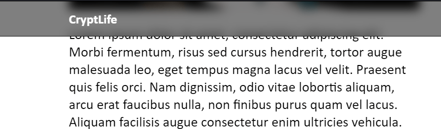 Blur Content Behind Div on Scroll with CSS
