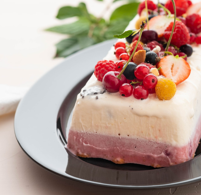buche glacee vanille framboise au thermomix