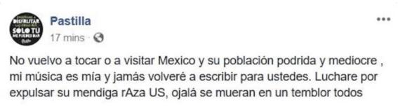 vocalista de pastilla insulta a mexicanos 3