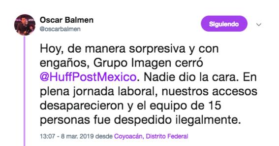 denuncian despidos del huffpost mexico 1