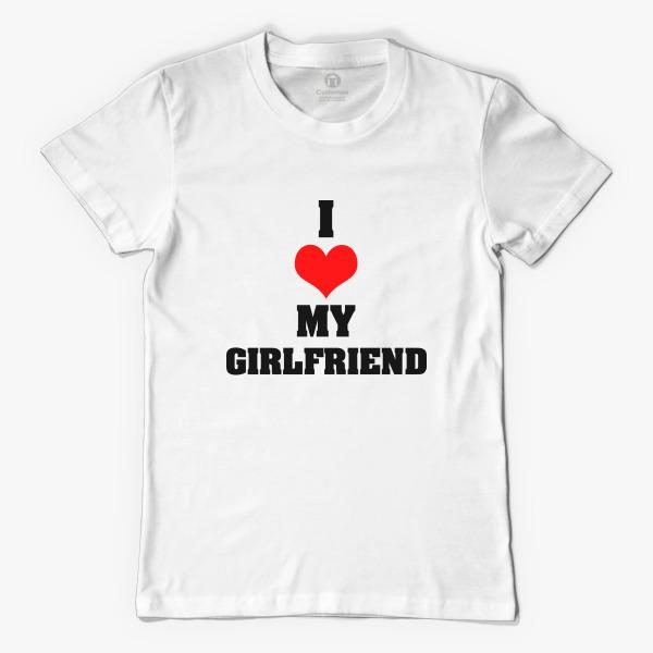 d1200bb2f7 Boyfriend Girlfriend Valentineu0027s Day Couple T-shirts Menu0027s T-shirt  - Valentine Shirts For