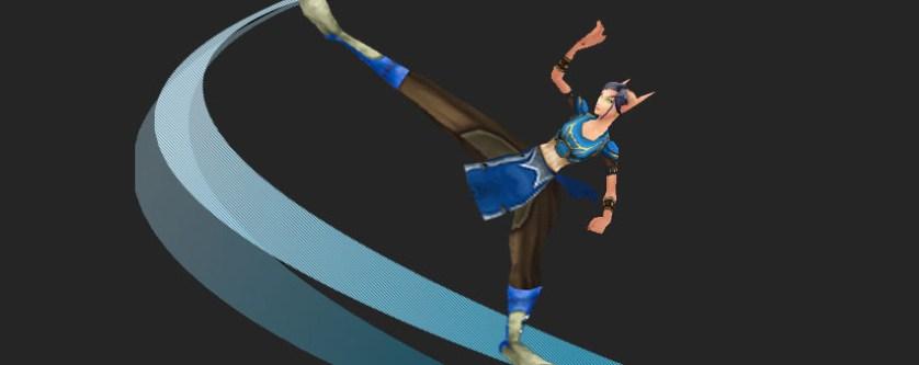 Chun-Li as a blood elf