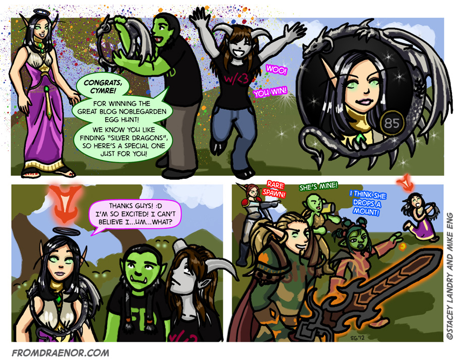 Cymre's guest comic strip from Draenor with Love