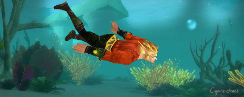 Aquaman warcraft underwater