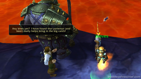 Nat Page visits while fishing in Draenor