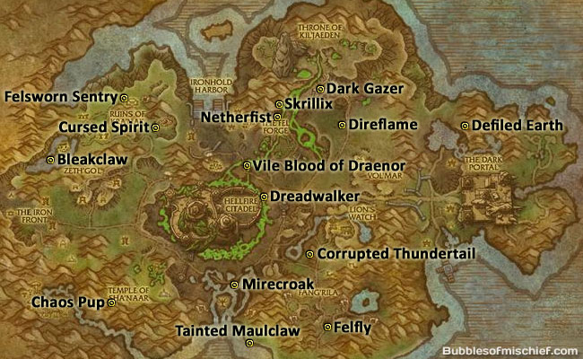 tiny terrors in tanaan map