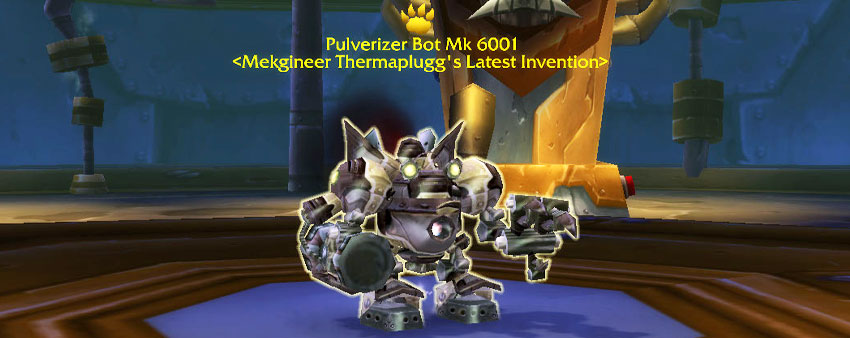 Pulverizer Bot Mk 6001 - Gnomeregan Pet Battle Dungeon