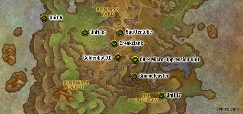 Mechagon Legendary Pets Map