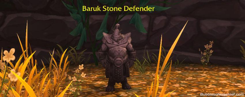 Baruk Stone Defender - The Littlest Defender pet battle - Shadowbarb Drone Guide