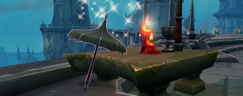 stylish black parasol - shadowlands treasures in Revendreth
