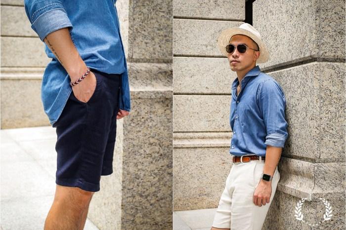 穿搭|UNITED ARROWS 男性棉麻短褲實穿