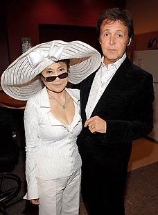 Paul McCartney and Yoko Ono