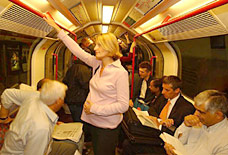 Pregnant lady on the Tube