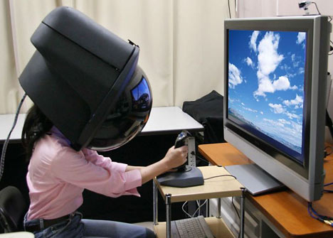 Crazy-ass VR helmet