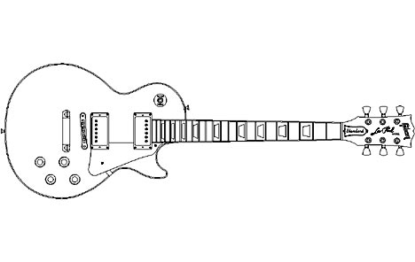 Win a unique, customised £2500 Gibson Les Paul guitar